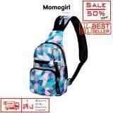 Momogirl กระเป๋าคาดอก สไตล์เกาหลี ญี่ปุ่น ผู้หญิง ลาย Ice Sea Blue Candy รุ่น M4502 เป็นต้นฉบับ