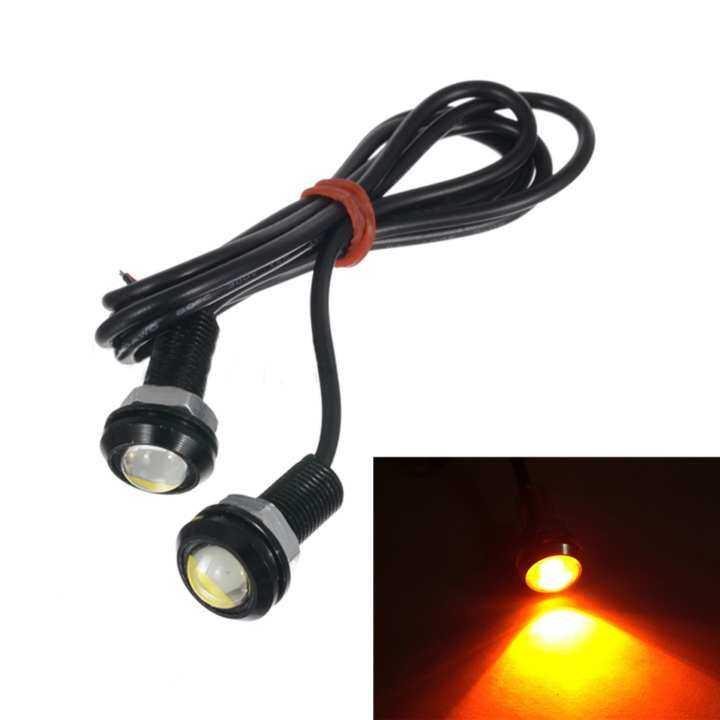 ซื้อที่ไหน Moonar 2pcs 18mm 9W LED Eagle Eye Bulb Car Fog Daytime Reverse Signal DRL