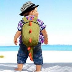 ขาย ซื้อ Moonar แฟชั่นการออกแบบเด็ก ๆ น่ารัก ๆnกระเป๋าเป้กระเป๋านักเรียนใบไดโนเสาร์ สีเขียว จีน