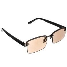 ราคา Moonar เพศแฟชั่นสีน้ำตาลใสแว่นตากรอบแว่นตาอ่านหนังสือครึ่งNpresbyopic สำหรับสำนักงานอ่าน 250องศา จีน