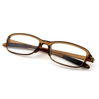 b5c6ae09f0b Moonar New TR90 Strength +3.00 Women Men Flexible Readers Strength  Presbyopic Reading Glasses ( Tea ) – intl