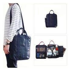 โปรโมชั่น Mori กระเป๋าสะพายข้าง กระเป๋าสะพายไหล่ กระเป๋าจัดระเบียบเสื้อผ้า สอดเข้ากับด้ามจับกระเป๋าเดินทางได้ Voyaging Bag Navy Blue สีน้ำเงิน กรุงเทพมหานคร