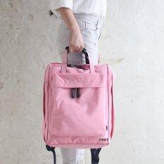 ส่วนลด Mori Travel Bag Backpack Notebook Bag กระเป๋าเป้สะพายหลัง กระเป๋าเป้ กระเป๋าจัดระเบียบเสื้อผ้า Pink สีชมพู Unbranded Generic