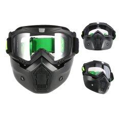 ส่วนลด Mortorcycle Mask Goggles And Mouth Filter For Open Face Helmet Motocross Ski Snowboard Intl Unbranded Generic ใน จีน