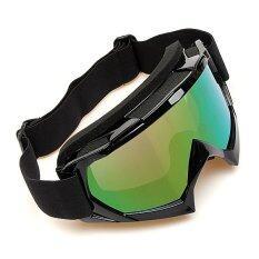 ทบทวน ที่สุด การแข่งขันจักรยานยนต์วิบากออฟโรดทดลอง Enduro มอเตอร์ไซค์วิบากหมวกแว่นตาแว่นตามอเตอร์ไซค์สีดำ