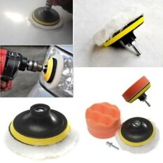 ขาย ซื้อ ออนไลน์ Motor Durable 6Pcs 3 High Gross Polishing Buffer Pad Set Kit For Car Polish Tool Intl