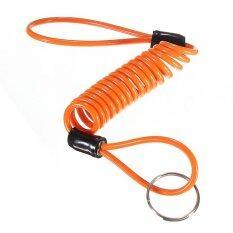 ขาย มอเตอร์ไซค์สกูเตอร์เตือนภัยแผ่นล็อกรถจักรยานยนต์ใบเตือนเคเบิล ส้ม แองโกลา