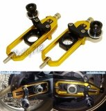 ขาย Motorcycle Cnc Aluminum Left Right Chain Adjusters With Spool Tensioners Catena For Kawasaki Ninja Zx 10R Zx10R 2011 2012 2013 2014 2015 2016 Gold Intl ราคาถูกที่สุด