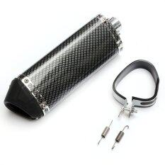 ซื้อ Motorcycle Exhaust Muffler With Movable Silencer Carbon Fiber Color Scooter Metal