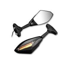 โปรโมชั่น Motorcycle Led Turn Signal Light Blinker Indicator Side Rear View Mirrors Intl Unbranded Generic