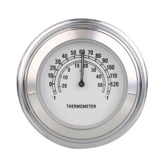 ขาย Motorcycle Motorbike Handlebar Mount White Dial Thermometer Waterproof Intl ถูก
