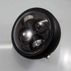 ซื้อ Motorcycle Projector Pure White Headlight Hi Lo Led Light Beads Lamp Lamps Intl