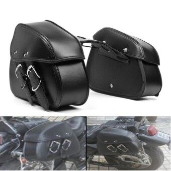 Motorcycle PU Leather Saddlebags Saddle Swingarm Bag Left Right Side Tool Bags For Sportster 1200 - intl