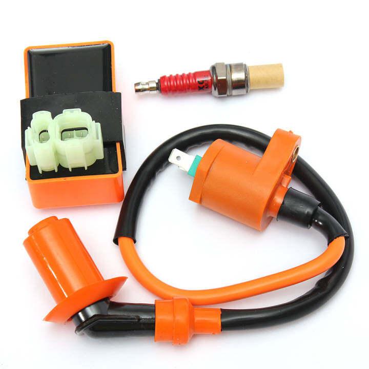ซื้อที่ไหน Racing Ignition Coil+Spark Plug+CDI Box For GY6