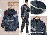 Motorcyclist Motorcycle Thick Waterproof Rain Coat Jacket With Pants Intl จีน