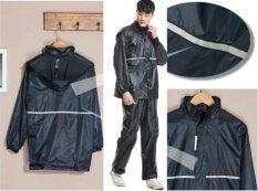 ขาย Motorcyclist Motorcycle Thick Waterproof Rain Coat Jacket With Pants Intl Unbranded Generic เป็นต้นฉบับ