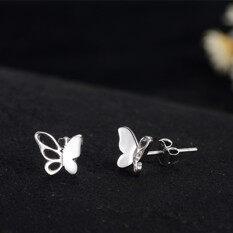 ซื้อ สหรัฐอเมริกาและญี่ปุ่นสีเงินขนาดเล็กต่างหูผีเสื้อ ถูก ใน ฮ่องกง
