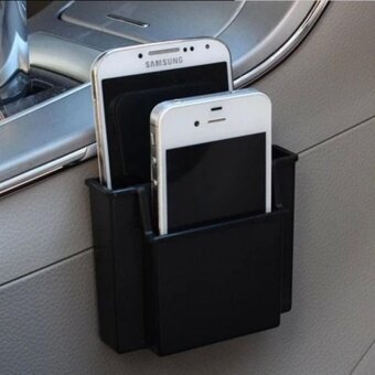 Multifunctional Mini Car Cell Phone Holder Black Mobile Phone Charge Box Holder Pocket Organizer Car Seat Bag Storage - intl