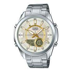 นาฬิกาข้อมือ Casio Standard Men สายแสตนเลส รุ่น Amw 810D 9A Casio Standard ถูก ใน สงขลา