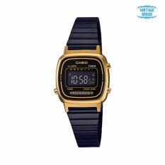 ราคา นาฬิกาคาสิโอ Casio Standard Digital Vintage Black Gold La670Wegb 1B ใน สงขลา