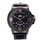โปรโมชั่น Naviforce นาฬิกาข้อมือผู้ชาย สีดำ สายหนัง แถมฟรี กล่อง รับประกัน 1 ปี รุ่น Nf9086M Thailand