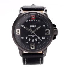 Naviforce นาฬิกาข้อมือผู้ชาย สีดำ สายหนัง แถมฟรี กล่อง รับประกัน 1 ปี รุ่น Nf9086M Naviforce ถูก ใน Thailand