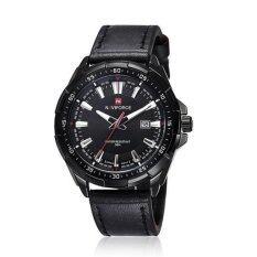 ขาย Naviforce 9056A Import Movement Leather Strap Calendar Sports Men S Watch Black Intl ไทย ถูก