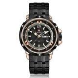 ซื้อ Naviforce 9073 Fashion Business Military Stainless Steel Strap Alloy Case Men Quartz Watch Rose Gold Intl ใหม่