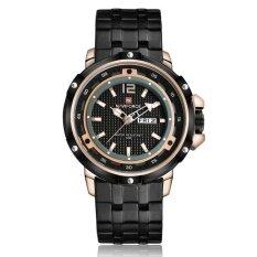 ขาย Naviforce 9073 Fashion Business Military Stainless Steel Strap Alloy Case Men Quartz Watch Rose Gold Intl ออนไลน์ จีน