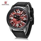 ราคา Naviforce 9080 Male Quartz Watch Luminous Date Display 3Atm Canvas Band Wristwatch Intl Thailand