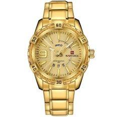 ราคา นาฬิกาข้อมือผู้ชาย Naviforce รุ่น 9117 เรือนสีทอง สายเหล็ก Naviforce เป็นต้นฉบับ