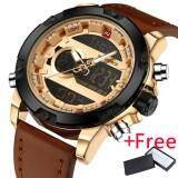 Naviforce Luxury Brand Men Analog Digital Leather Sports Watch นาฬิกาข้อมือ Es Men S Army Military Watch นาฬิกาข้อมือ Man Quartz Clock Naviforce ถูก ใน จีน