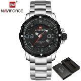 ราคา Naviforce Luxury Brand Men Army Military Sports Watch นาฬิกาข้อมือ Es Men S Quartz Clock Male Full Steel Sports Wrist Watch นาฬิกาข้อมือ Naviforce จีน