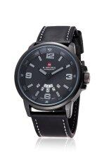 ราคา Naviforce Men S Black Leather Strap Watch Intl Naviforce ออนไลน์