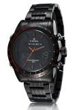 ขาย Naviforce นาฬิกาข้อมือชาย 2 ระบบ เรือนดำ ขอบตัวเลขสีส้ม สายเหล็ก ใหม่