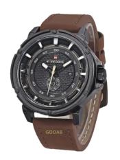 ราคา Naviforce นาฬิกาข้อมือผู้ชาย สายหนัง รุ่น Nf9083M สีน้ำตาล แถมฟรี ผ้่าเช็ด กล่อง รับประกัน 6 เดือน ใหม่
