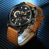 ส่วนลด Naviforce นาฬิกาข้อมือผู้ชาย สายหนังแท้ บอกวันที่และสัปดาห์ ระบบโครโนกราฟ สไตล์หรูหรา รุ่นNf9071 ไทย