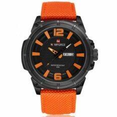 โปรโมชั่น Naviforce นาฬิกาข้อมือผู้ชาย สายผ้าสีส้ม รุ่น Nf9066M Naviforce