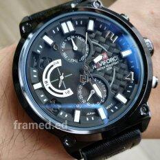 ซื้อ Navi Force นาฬิกาข้อมือผู้ชายสายหนัง รุ่น Nf99L สายหนังสีดำ รุ่นพิเศษ ใหม่