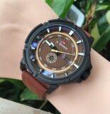 ราคา Naviforce นาฬิกาข้อมือ รุ่น Nf9083M สีน้ำตาล ใหม่