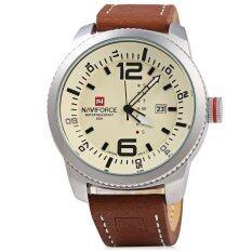 ซื้อ Naviforce Nf 9063M นาฬิกาข้อมือเงินควอตซ์สำหรับผู้ชาย กันน้ำ สีเหลือง ใหม่ล่าสุด
