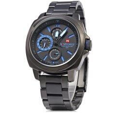 ส่วนลด Naviforce Nf 9069M Male Quartz Watch Working Sub Dials Wristwatch Blue