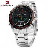 ราคา Naviforce Nf9024 คู่ Movt ผู้ชายนาฬิกาควอตซ์อะนาล็อกดิจิตอลนาฬิกาข้อมือนาฬิกาสแตนเลส นานาชาติ Naviforce ออนไลน์