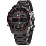 โปรโมชั่น Naviforce Nf9024 Dual Movt Men Quartz Watch Analog Digital Led Wristwatch Calendar Watches Stainless Steel Strap Intl Naviforce