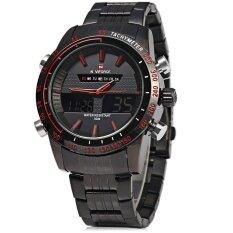 ขาย Naviforce Nf9024 Dual Movt Men Quartz Watch Analog Digital Led Wristwatch Calendar Watches Stainless Steel Strap Intl จีน