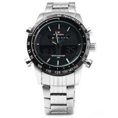 ขาย Naviforce Nf9024 Luxury Dual Movt Men Quartz Watch Analog Digital Led Sport Wristwatch Naviforce ถูก