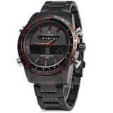 ซื้อ Naviforce Nf9024 Men Quartz Watch Analog Digital Led Sport Wristwatch Black And Red Intl ออนไลน์ ถูก