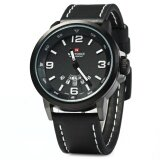 ขาย Naviforce Nf9028 Men Quartz Watch Analog Wristwatch Date Watches Pu Strap Intl ออนไลน์ ใน จีน