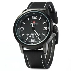 ขาย Naviforce Nf9028 Men Quartz Watch Analog Wristwatch Date Watches Pu Strap Intl เป็นต้นฉบับ