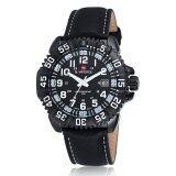 ขาย Naviforce นาฬิกาข้อมือผู้ชาย สีดำ สายหนัง รุ่น Nf9041M ถูก ใน Thailand